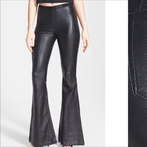 NWT|Blank NYC| leather bell flare bottoms.Size 31L